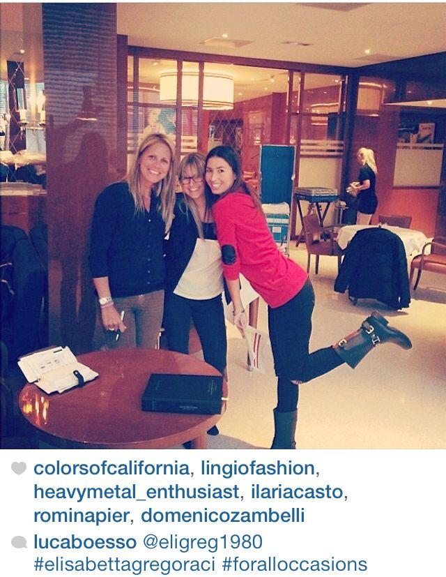 La bellissima Elisabetta Gregoraci indossa i rainboot Colors of California!!