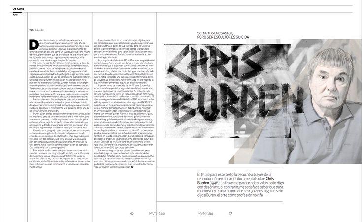 De Culto Arte: ChrisBurden  #editorial #chrisburden #lettering #calligraphy #handlettering #editorialdesign #illustration #brushpen #graphicdesign #experimentallettering