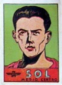 Sol. Atlético de Madrid. 1941-42. Cromos Bruguera. Medio centro reserva.