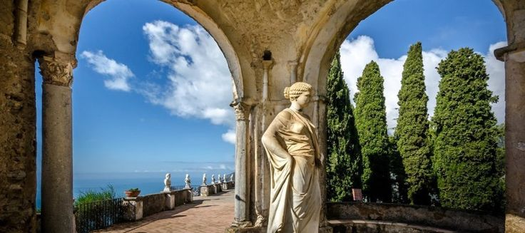 """The #Villa #Cimbrone's #gardens are breathtakingly beautiful and contain a wealth """"of the most beautiful imaginable #flowers"""". You can find them in #Ravello."""
