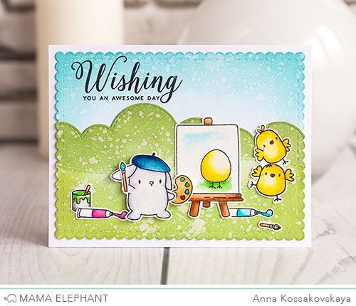 Mama Elephant Stamp Highlight: Lil' Painters | wishing you an awesome day | Anna K