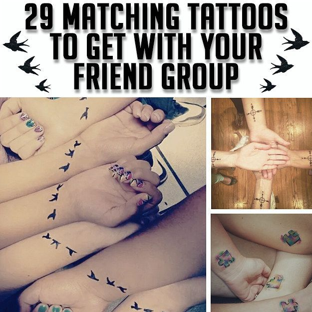 29 Matching Tattoos That Will Give You Serious Squad Goals