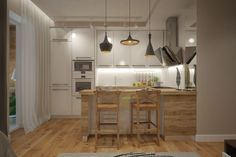 Дизайн квартиры 30 кв. метров в светлых тонах - Интерьер как он есть