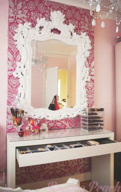 Vanity Area  Makeup Storage