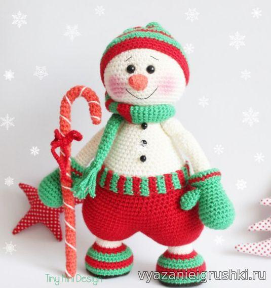 Снеговик Гномус - Игрушки крючком