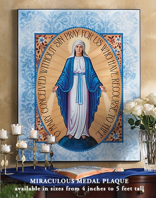 Miraculous medal icon of the virgin mary from monastery for Are tattoos a sin catholic