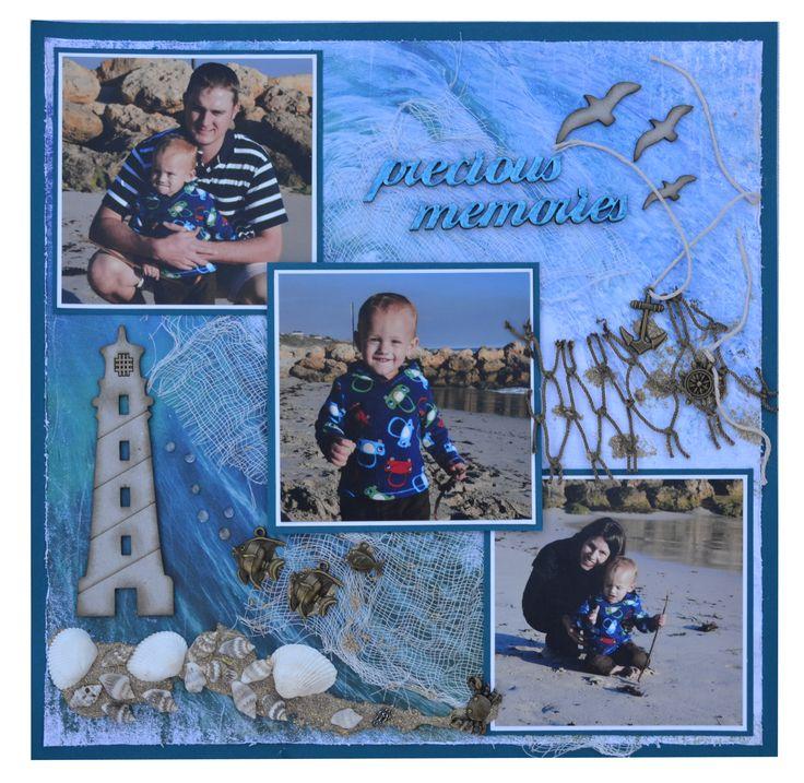 Sea Memories Scrapbook Page