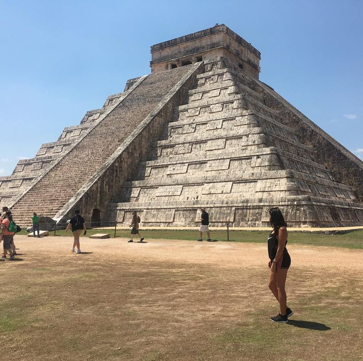 """One of the Seven Wonders of the World Chichen Itza - meaning """"At the mouth of the well of the Itza"""" - is Mexico's most visited archeological site and today I checked it out. Now im in Cancun and it's party time  any one have any recommendations?  #travel #Chichenitza #Travelgirl #travelblog"""
