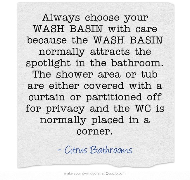 how to choose wash basin