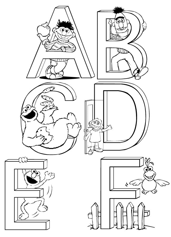 Sesame Street Printable Coloring Pages Images Pictures