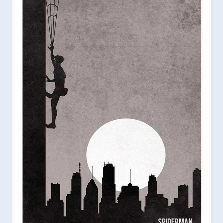Spiderman Climbing Poster
