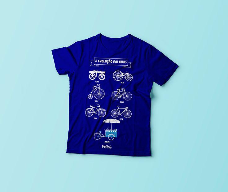 Uniforme azul - A evolução das bikes para empresa Moove Bikes, fabricante de food bikes e triciclos.