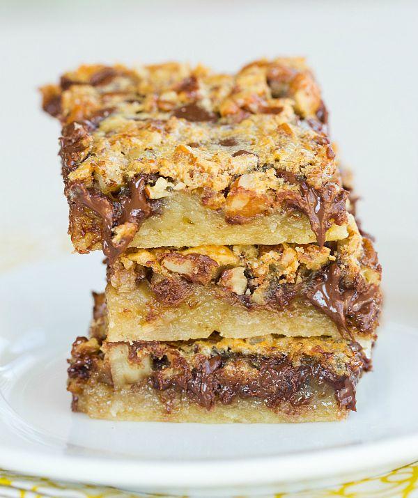 Chocolate Chip-Pecan Pie Bars (Brown Eyed Baker) | Chocolate Pies ...