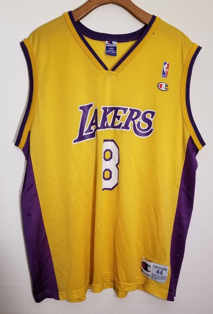 bd6b82907c77 Vtg Kobe Bryant Champion Jersey LA Lakers  8 NBA Size 44 Black Mamba Rare  XL  Champion  LosAngelesLakers