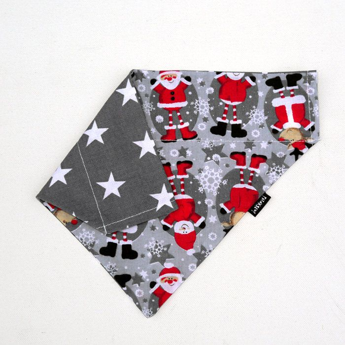 Dog Bandana, Christmas  Personalized  Neckerchief  with the name of the dog, dog gift idea, Psiakrew by PSIAKREW on Etsy