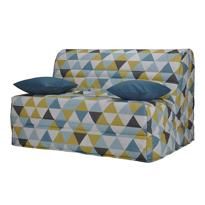 Scandi cocoon Housse pour BZ 160cm motifs triangles