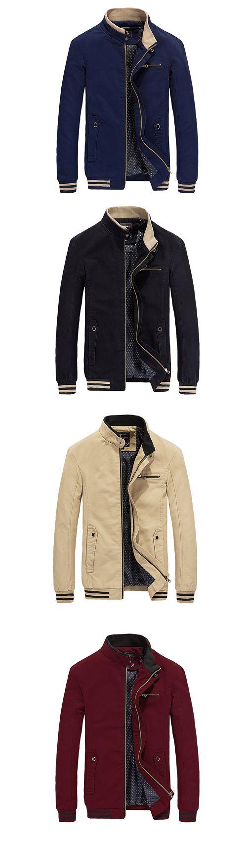 Men's Casual/Daily Simple Regular Jacket & Coat