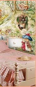 Vintage Floral Bedding   Peter Rabbit Murals For A Beatrix Pottery Nursery  Theme   Peter Rabbit Part 61