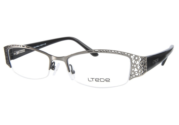 Ltede 1073 Silver Black | It's Your Lucky Day! Love this frame? Re-pin it for your chance to win it!