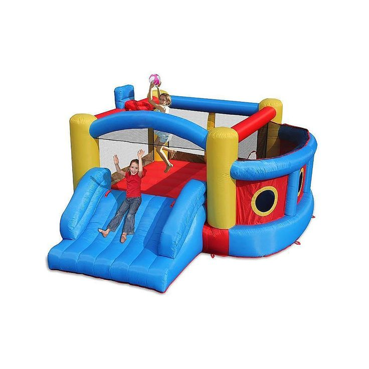 4-in-1 Bounce N Play Kids Jumper Super Fort Sport Inflatable Bouncer House Slide