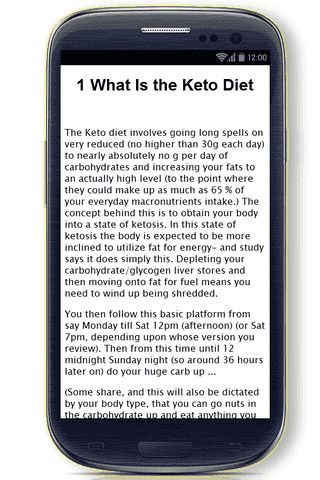 Our Keto Diet Plan app concentrates on VERY detailed information about Keto Diet.<p>In this huge, informative Keto Diet Plan app you'll find the following information (and more):<p>- What Is the Keto Diet<br>- Keto Dieting Here Are 10 Foods You Must Have In Your Kitchen<br>- Low-Carb and Keto Diet Fast Food Menu Choices How to Eat Successfully at Restaurants<br>- The Ketogenic Diet - Ultimate Fat Loss Diet<br>- Supplementation for Cyclical Ketogenic Dieting<br>- How to Lose Weight Fast With…
