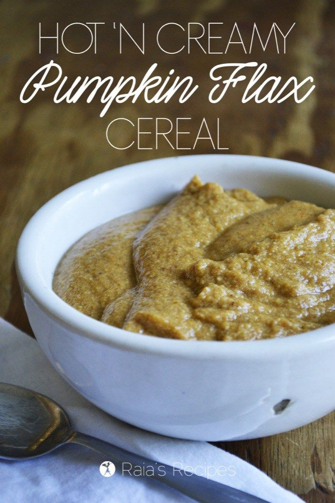 This grain and dairy-free Hot 'n Creamy Pumpkin Flax Cereal is the perfect allergy-friendly breakfast for a chilly morning! RaiasRecipes.com