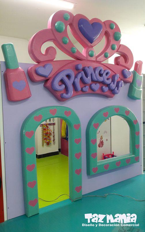 decoracin comercial fachada exterior e interior juegos para nios en trabajo tallado