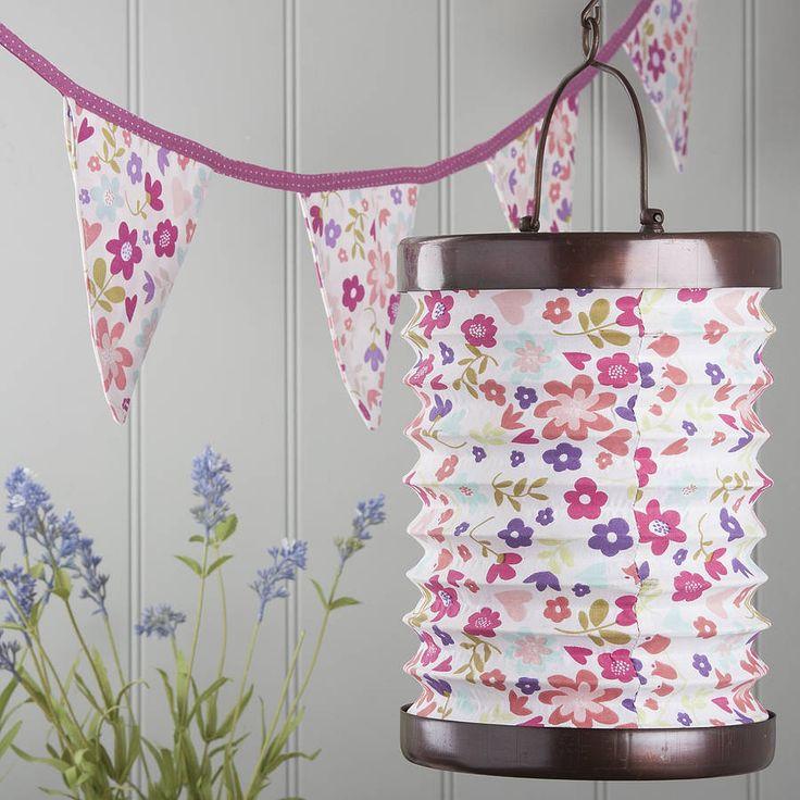 Elegant Floral Tea Light Lantern