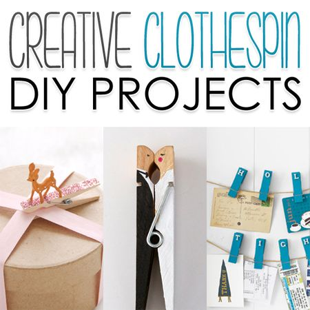 Creative Clothespin DIY Projects - The Cottage Market