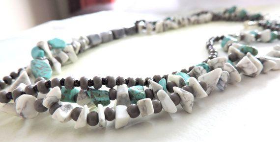 Multi Stranded Semi Precious Gemstone by AriadnesCreations on Etsy