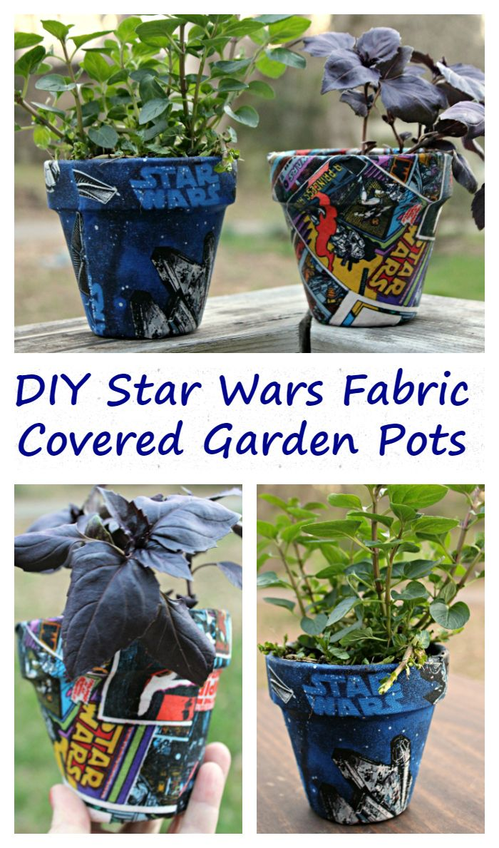 I love to cook with fresh herbs from my indoor garden I have planted in my DIY Star Wars Fabric Covered Garden Pots ad @EcoScraps #BadFoodGoneGood