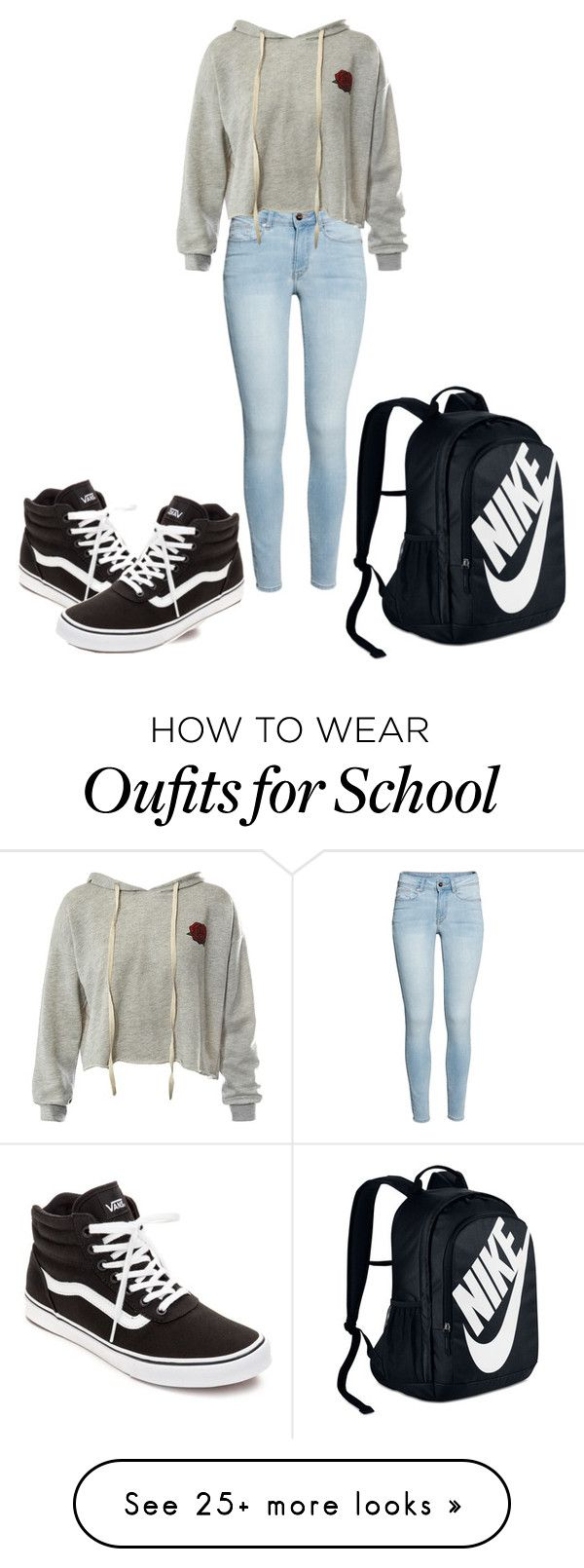 """School outfit  [#20]"" by gglovesu on Polyvore featuring Sans Souci, Vans and NIKE"