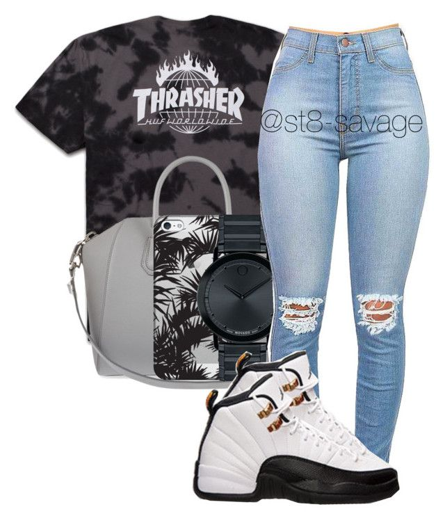 """Thrashin"" by str8-savage ❤ liked on Polyvore featuring Givenchy, Casetify, Movado and Retrò"