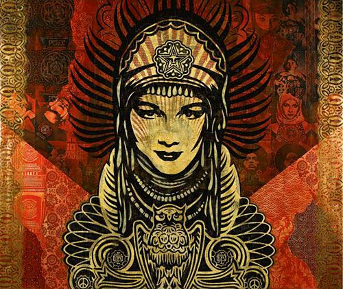 Peace Goddess by Shepard Fairey   \ i feel like it would make a great piece