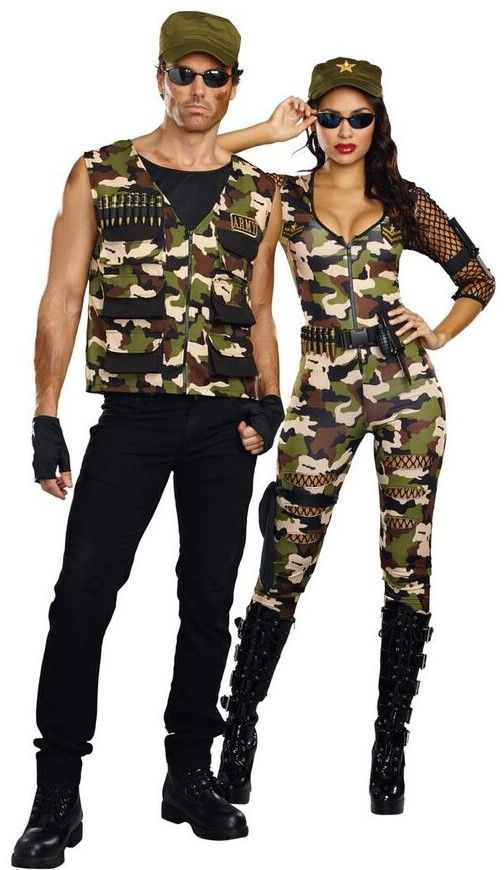 kostuem army girl cathy camouflage  groesse
