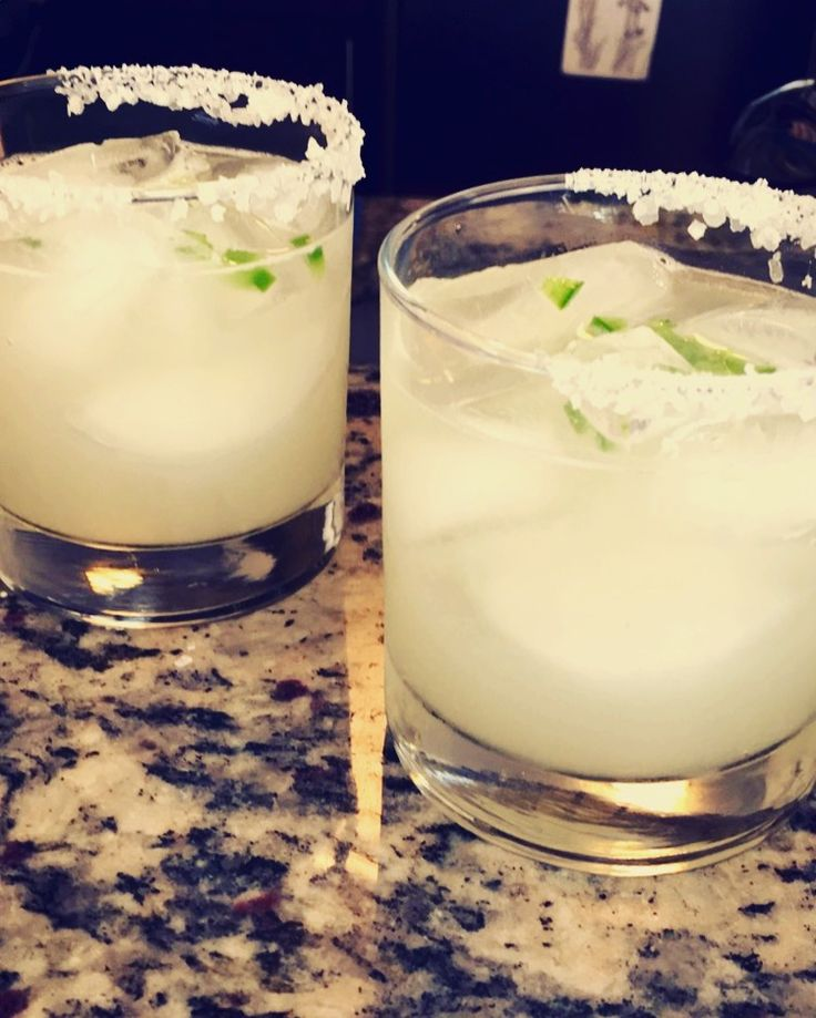 Home made margaritas. Lots of lime, jalapeño, sugar water, add tequila of choice
