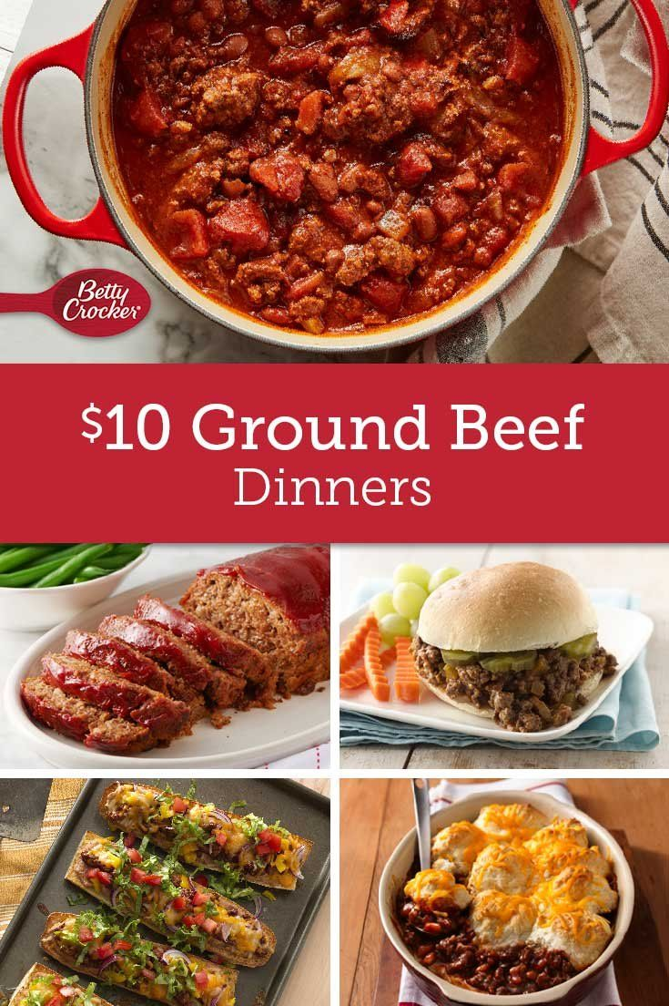 10 Ground Beef Dinners Dinner With Ground Beef Beef Dinner Ground Beef Recipes For Dinner