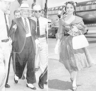 Louisiana Gov. Earl K. Long, at left in dark suit, and exotic dancer Blaze Starr, at right, engaged in an open affair starting in 1959. Their story eventually inspired the movie 'Blaze,' starring Paul Newman and Lolita Davidovich. (File images)