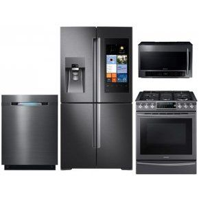 High Quality Samsung Black Stainless Steel Kitchen Package With Family Hub French Door  Refrigerator Slide In Gas Range Built In Dishwasher Ove Part 16