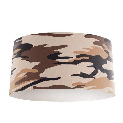 Lampenkap Bruine legerprint Dé kadotip! Leuk om cadeau te doen of te krijgen. Met de lampenkap Legerprint krijg je in jouw slaapkamer zeker de sfeer die je zoekt. Helemaal op maat voor gemaakt met een unieke fotoprint. Bestel nu eenvoudig online. #leger #legerprint #bruin #jongen #jongenskamer #lamp #lampenkap #foto #bedrukt