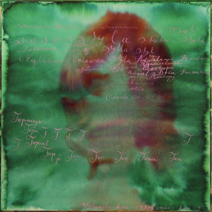 Maciej Olekszy, Odwilż,  atrament, papier naklejony na płótnie, 50 x 50 cm, 2013