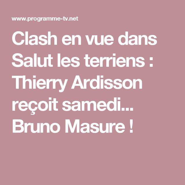 Clash en vue dans Salut les terriens : Thierry Ardisson reçoit samedi... Bruno Masure !