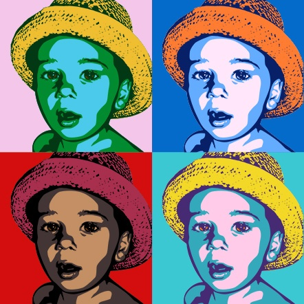 Personalised andy warhol style pop art on canvas art wall art online