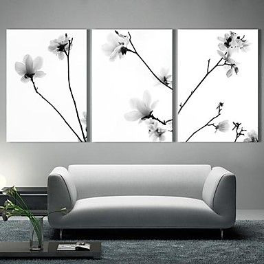 Stretched Canvas Art The Quiet Flowers Set of 3 – AUD $ 82.63