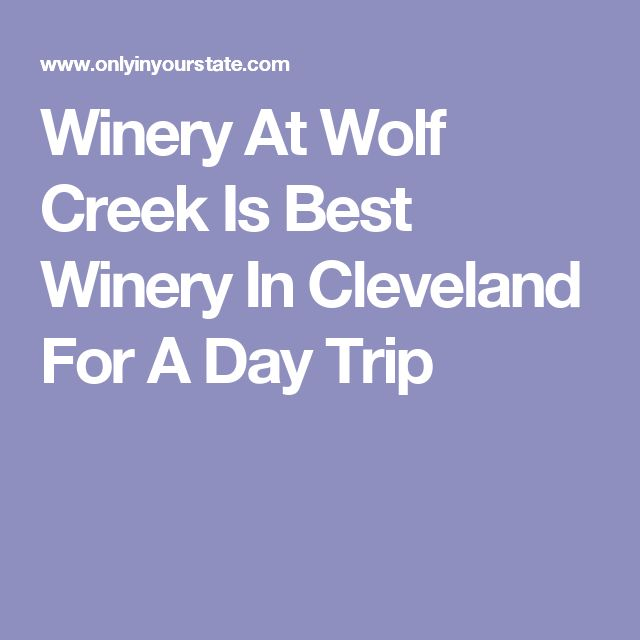 Winery At Wolf Creek Is Best Winery In Cleveland For A Day Trip