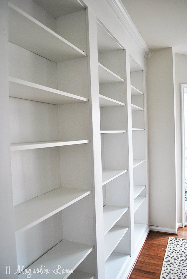 Create The Look Of High End Built In Bookcases On An Empty