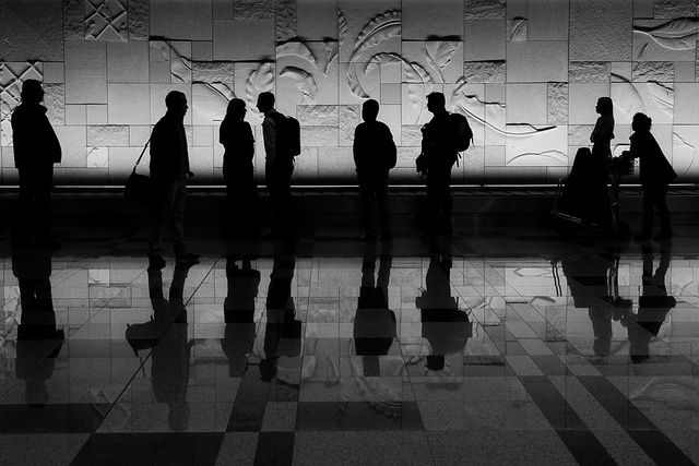 Singapore airport silhouettes, by Franck Vervial, via Flickr