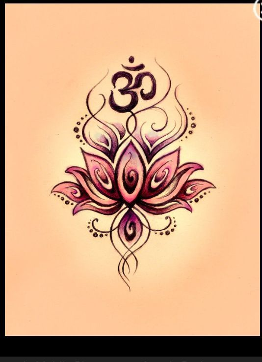 Beautiful lotus & ohm tattoo idea!! Maybe on my underarm?? | tattoo ... More