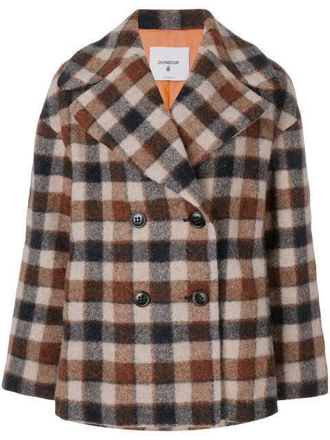 DONDUP gingham check peacoat. #dondup #cloth #
