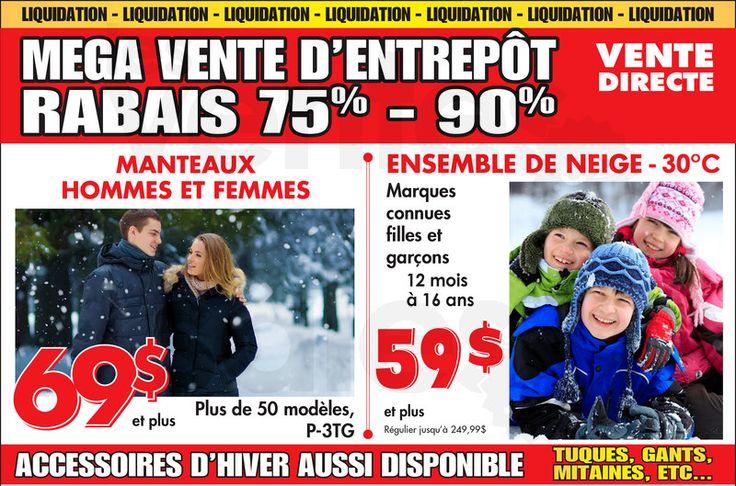 Manteaux et habits de neige jusqu'à -75% | lesventes.ca